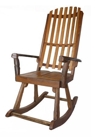 Rocking chair in Teak wood